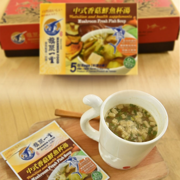 丸文鮮魚杯湯 中式香菇 (15g*5包 ) 1