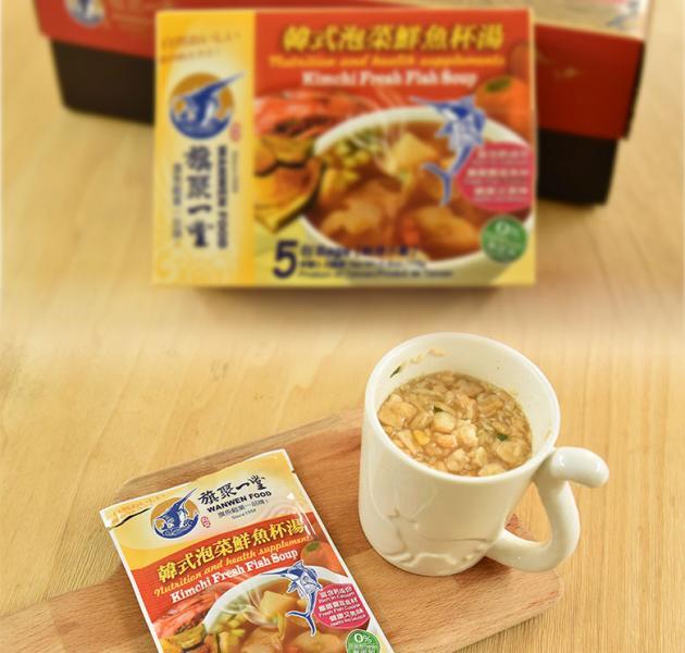 丸文鮮魚杯湯 韓式泡菜 (15g*5包) 1