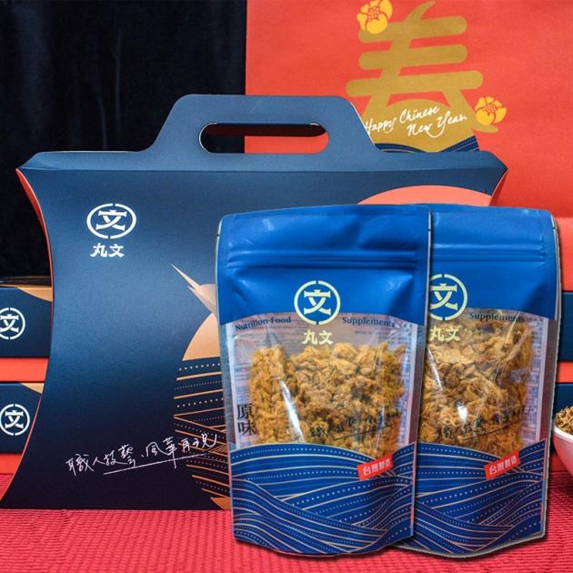 蘋果派禮盒(原味肉鬆240g+特級豬肉脯240g) 1