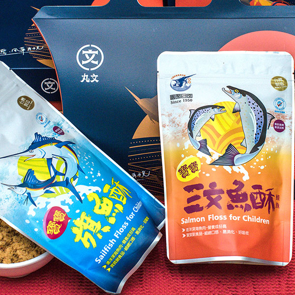 寶寶魚酥小禮盒(旗魚酥220g+鮭魚酥150g) 1