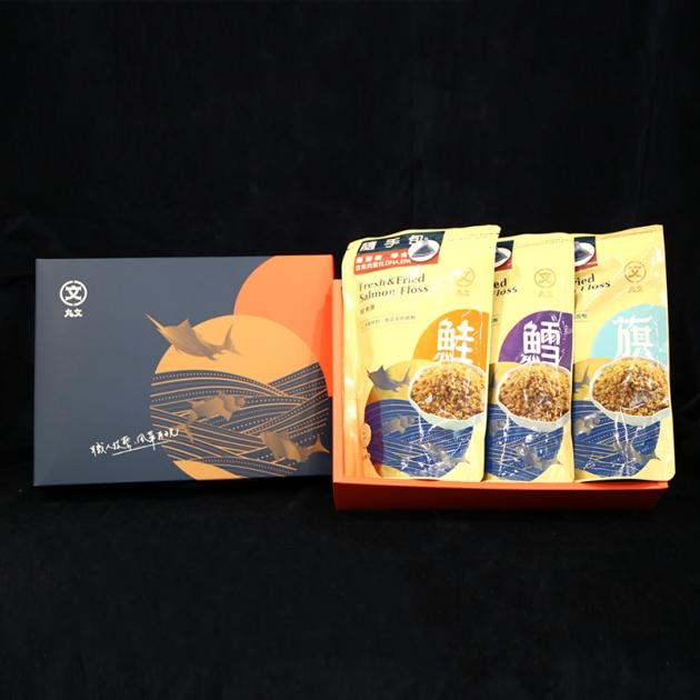 隨手包酥酥入口禮盒(旗魚酥+鮭魚酥+鱈魚酥) 綿密口感 入口即化 好消化 1