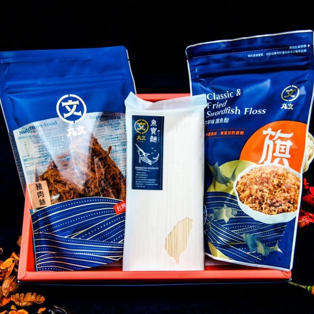 麵麵俱到-魚寶禮盒(古早味220g+豬肉絲240g+魚寶麵300g 1
